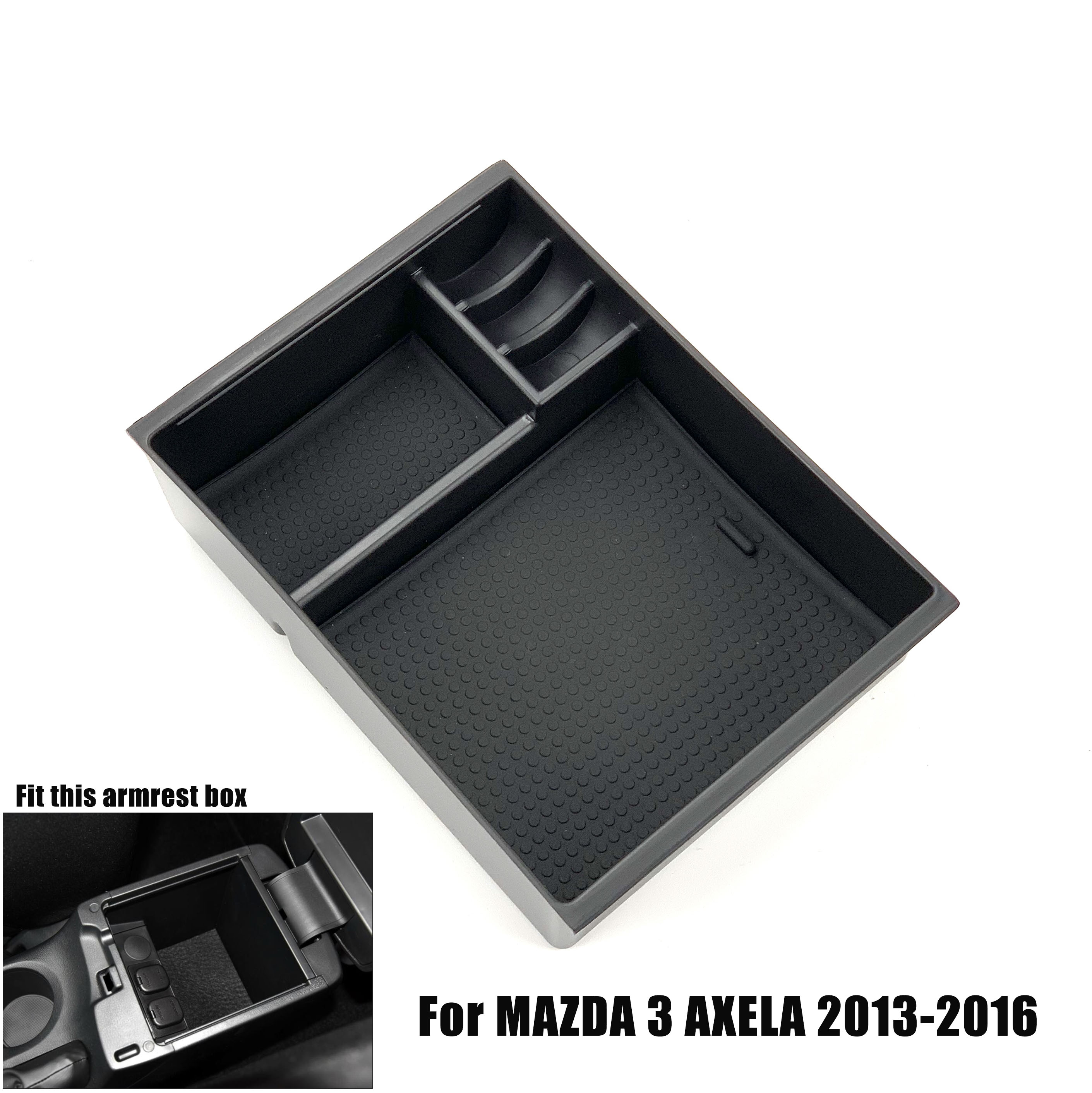 Car Styling <font><b>Accessories</b></font> Central Armrest box Storage Tray Glove Pallet For <font><b>MAZDA</b></font> 3 6 AXELA ATENZA <font><b>CX</b></font>-5 CX5 <font><b>CX</b></font>-8 CX8 <font><b>CX</b></font>-<font><b>9</b></font> CX9 image