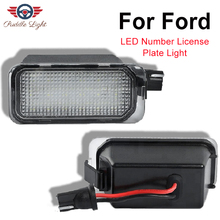 купить Car LED Light License Number Plate Light For Jaguar XJ XF Ford Transit Fiesta Focus S-MAX C-MAX Mondeo Kuga Galaxy Ranger Edge дешево