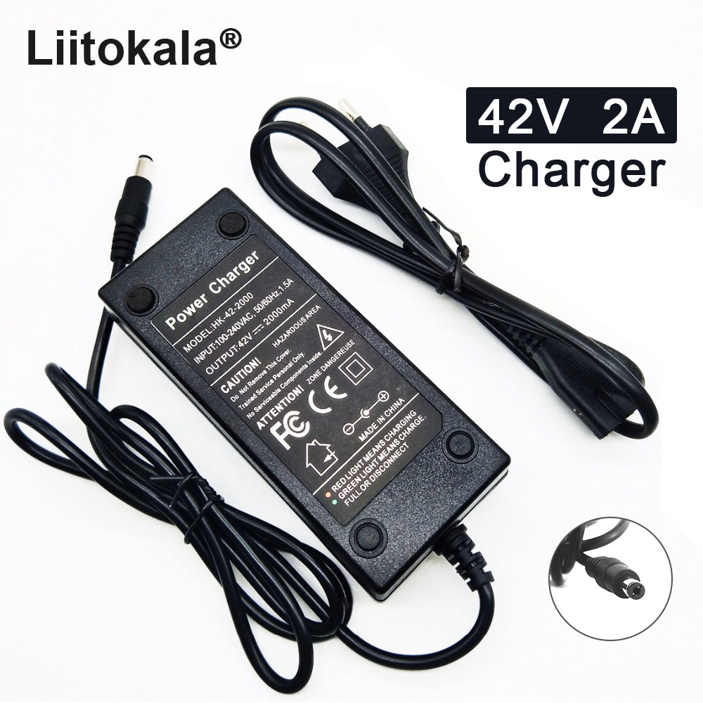 <font><b>36V</b></font> battery <font><b>charger</b></font> 42V <font><b>2A</b></font> <font><b>Charger</b></font> 100-240V Input Lithium Li-ion <font><b>Charger</b></font> For <font><b>36V</b></font> Electric Bike and wo-wheel Vehicle image