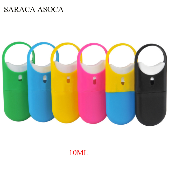 10ml Ring O-Type Sprayer Card Type Spray Flat Bottle Hand Sanitizer Sprayer 100Pcs/Lot