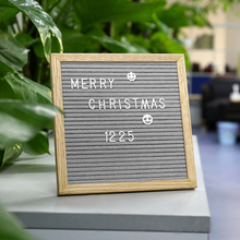 Hot Beautiful Felt Letter Board Nordic Style Wooden Frame Changeable Symbols Numbers Characters Message Boards for Home Office