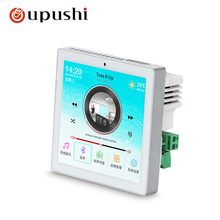 4 WIFI audio digital stereo amplifier touch screen In wall android system home audio USB music