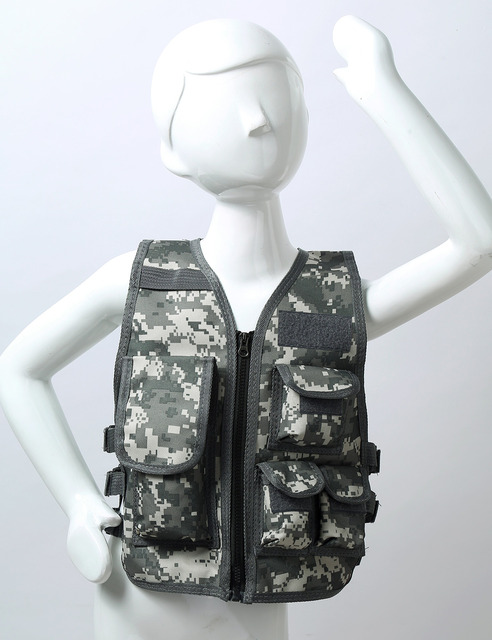 Military Kids Camouflage Hunting Clothes Men Combat Equipment Tactical Army Vest Children Cosplay Costume Airsoft Sniper Uniform 4