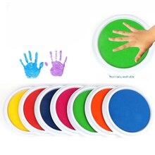 Цветной + DIY + Чернила + Pad + Stamp% 2C + Моющийся + Палец + Картина + Craft + Inkpad + Large + Round + for + Kid% 27s + Rubber + Stamp% 2C + Scrapbooking + Cards
