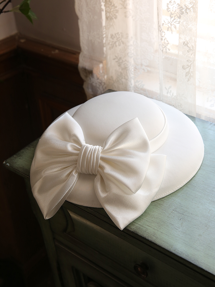 Paris Show High End Women Fascinator Hat Big Bow S