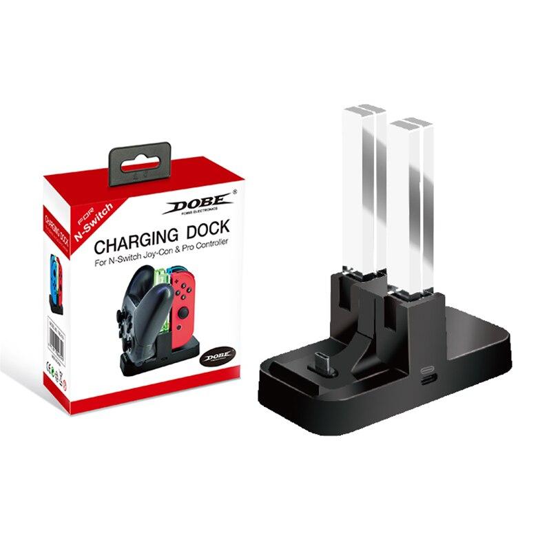 2019 stacja ładująca stojak na Nintendo Switch Joy. Con stacja ładująca kontroler led ładowane na usb ładowarka do ładowania na stojąco na przełącznik sterowanie