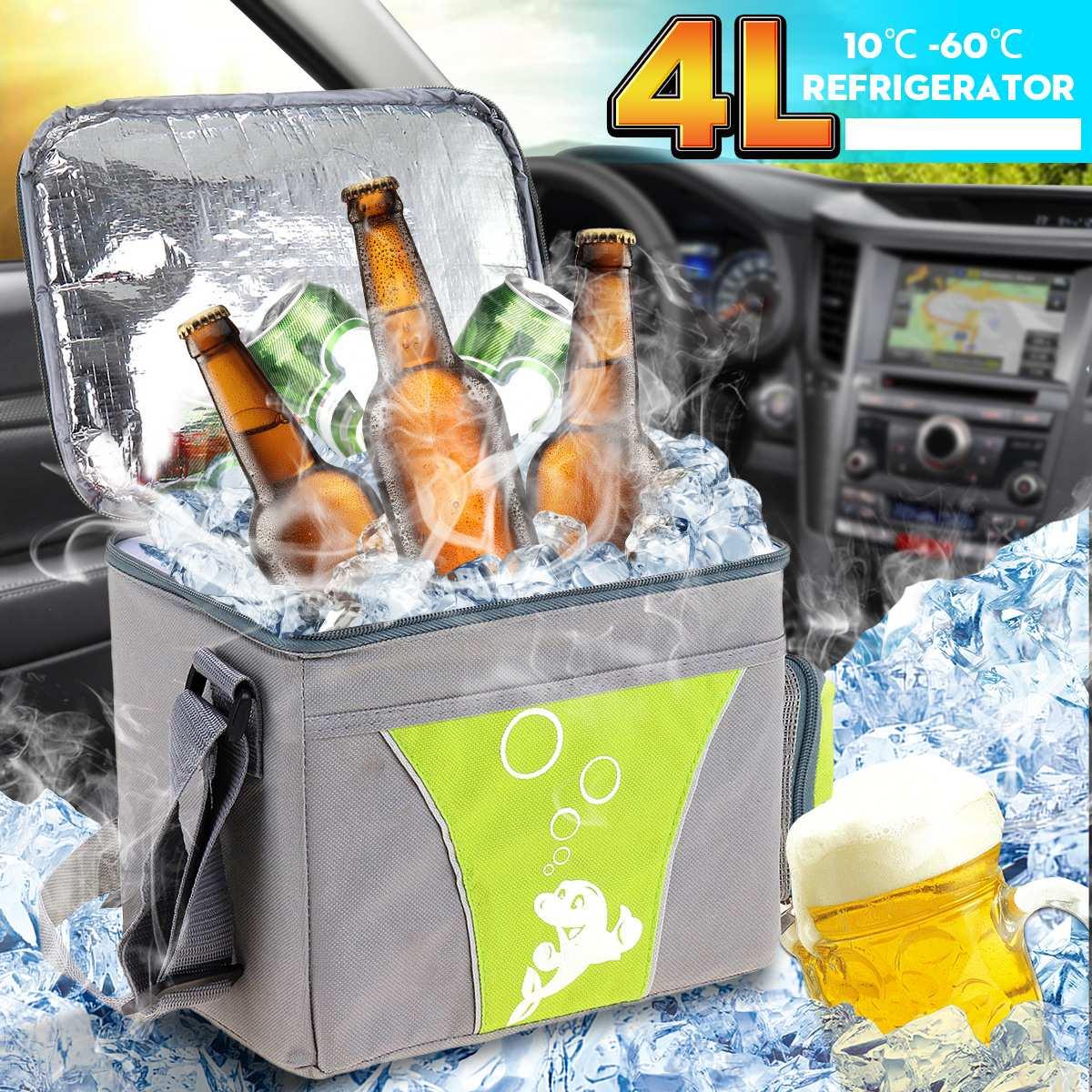 Fridge Refrigerator Car-Cooling-Heating-Box Cars Ultra-Quiet Camping Mini 12V Home 4L