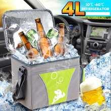 Mini réfrigérateur Ultra silencieux 2 en 1, 12V, 4l, pour la maison et la voiture, système de refroidissement et de chauffage, pour le Camping