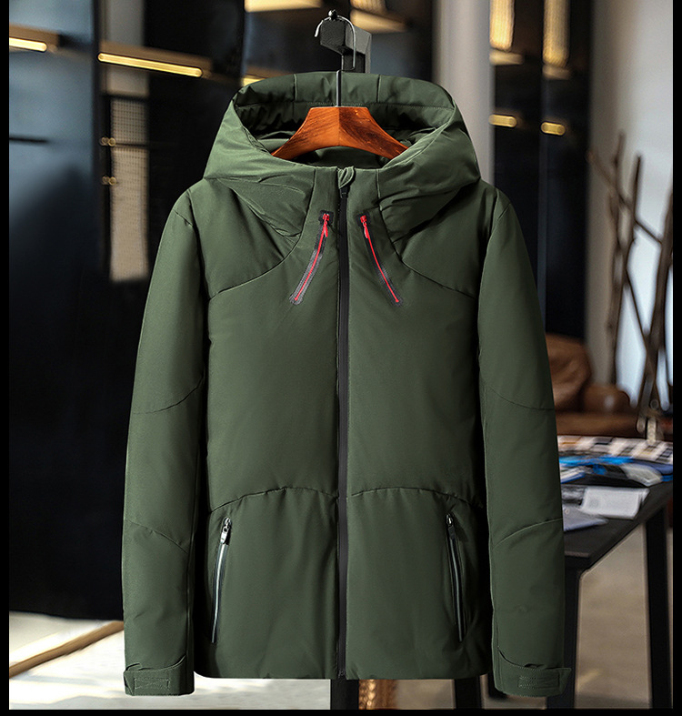 HO new 19 thickening down jacket young men brief paragraph clothes leisure in winter to keep warm 5
