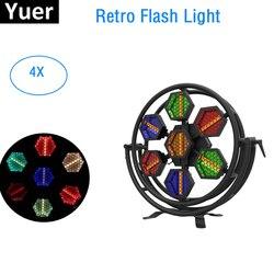 Oświetlenie sceniczne LED efekt 7X60W światło Flash LED DMX 512 Retro lampa błyskowa Dj Disco lampa KTV Bar oświetlenie na imprezę kryty projektor laserowy