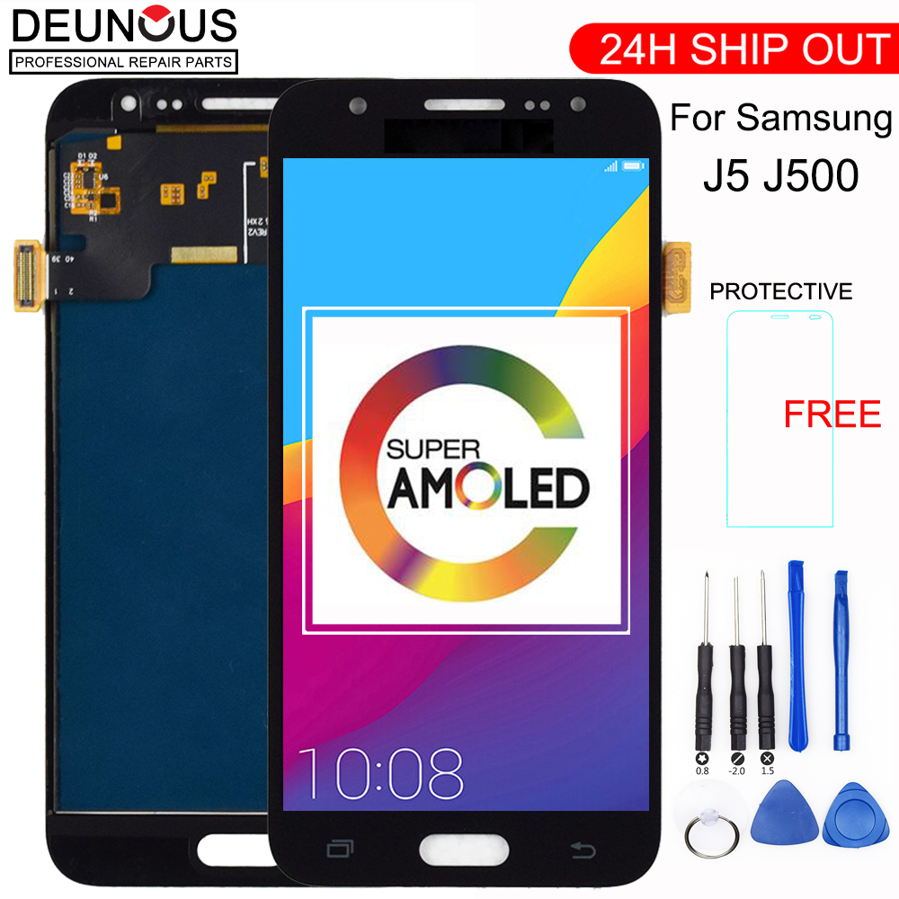 New 5'' <font><b>AMOLED</b></font> LCD for SAMSUNG Galaxy J5 2015 <font><b>J500</b></font> LCD Display J500H J500FN J500F J500M SM-J500F Touch Screen Digitizer image