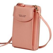 New Large Cell Phone Wallet, A Zipper,shoulder Slant Satchel