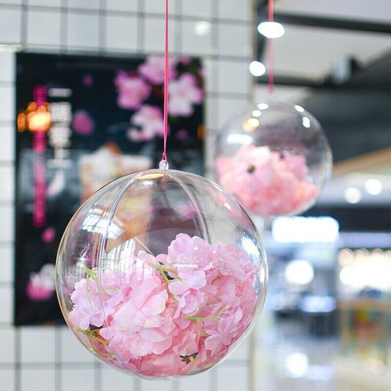 Fashion 5cm 7cm 10cm Clear Baubles Ball Transparent Plastic Craft Ball Christmas Ball Ornaments Decoration Party