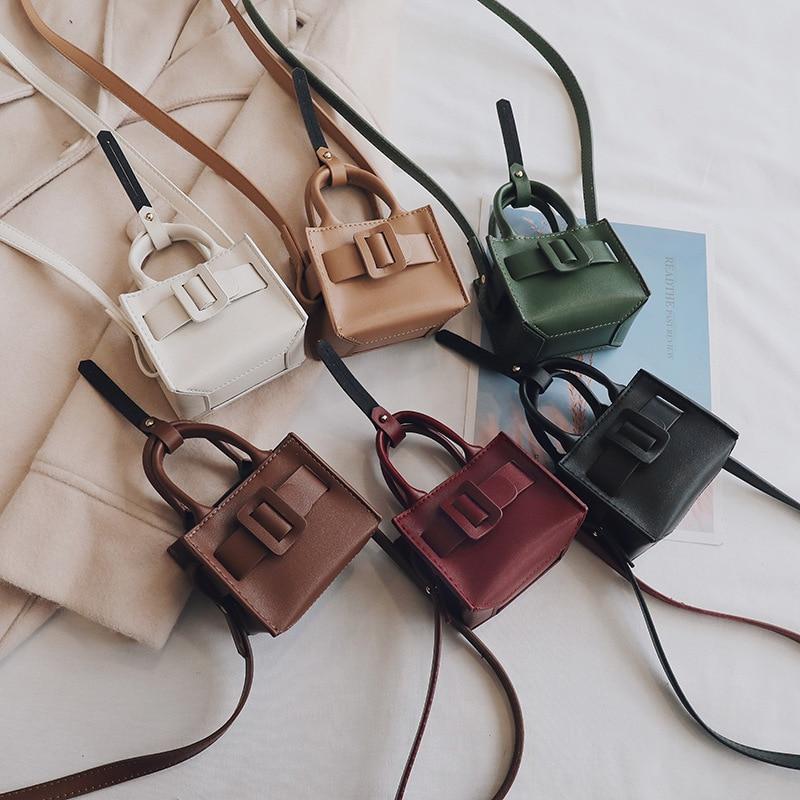 Mini Small Square Bag 2019 Fashion Quality PU Leather Women's Handbag Vintage Crossbody Bags For Women Shoulder Messenger Bags