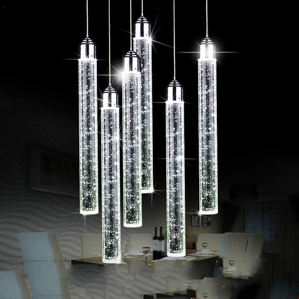 Crystal Pendant Lights Modern LED Crystal Pendant Lamp For Dining Room Living Room Bedroom Decor Hanging Light Fixtures Mx102917