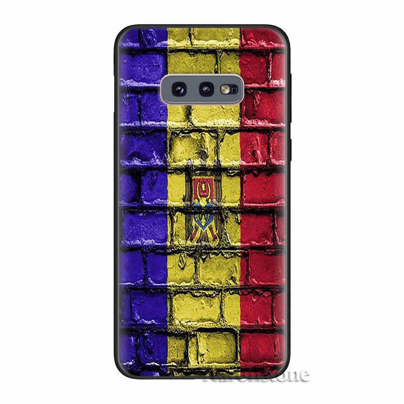 มอลโดวาธงสำหรับ Samsung Galaxy S8 S9 S10 S20 PLUS หมายเหตุ 8 9 10 Plus S7 S10e S20 ULTRA 5G ฝาครอบ