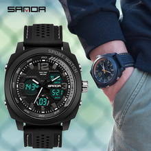2019 Mens Watch Brand SANDA Sport Diving LED Display Wristwatch Fashion Silicone Strap Men Montre Homme Relogio reloj790