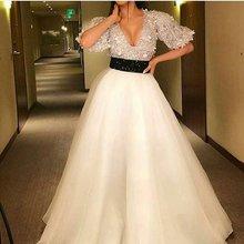 Женское платье для выпускного вечера ТРАПЕЦИЕВИДНОЕ вечернее