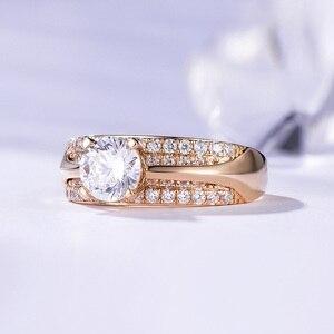Image 3 - Kuololit 10K 14K Geel Goud 100% Natuurlijke Moissanite Edelsteen Ringen Voor Vrouwen Handgemaakte Ringen Engagement Bruid Gift Fijne sieraden
