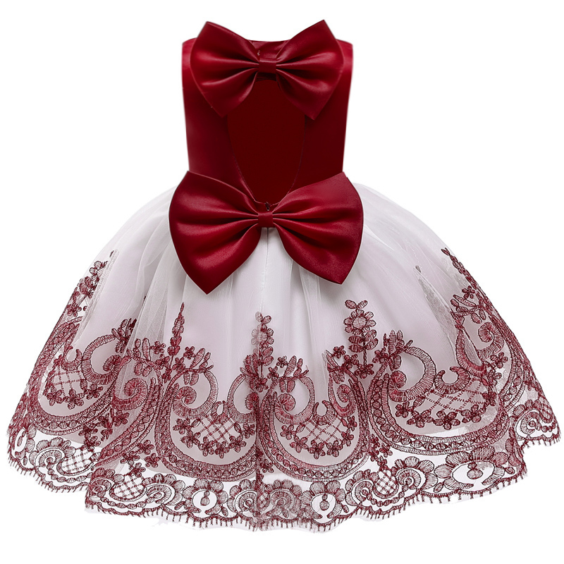 Flower Girl Campus Party Opening Ceremony Ball Lace Back Dresses Girl Eucharist First Party Banquet Butterfly Dresses