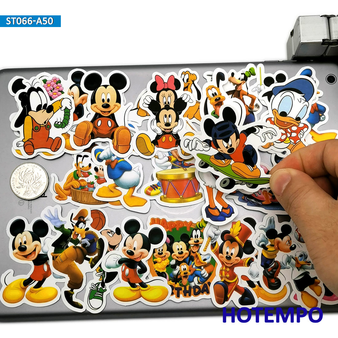 50pcs Minnie Mickey Cute Anime Stickers Toys For Children Kids Scrapbook Stationery Mobile Phone Laptop Suitcase Decal Stickers