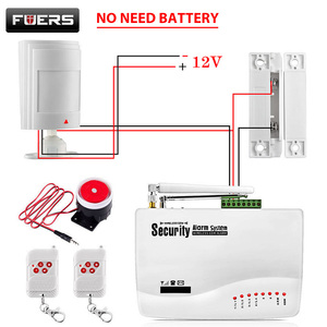 Image 1 - FUERS Russian English Voice Wired GSM Alarm System Dual Antenna GSM Home Alarm Security App Control Protection Auto Dial DIY