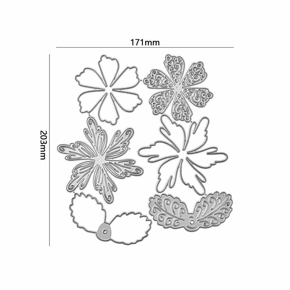 YaMinSanNiO 6 sztuk/zestaw seria kwiatowa Metal wykrojniki dla majsterkowiczów Scrapbooking papier do albumów dekoracja kartek nowe matryce do cięcia 2020
