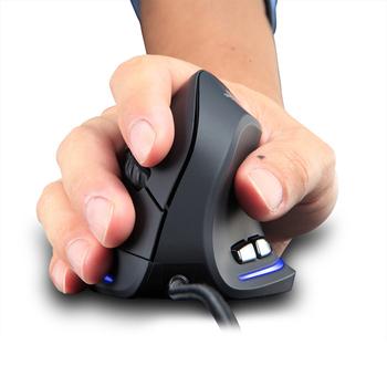 ZELOTES T20 pionowa programowalna mysz do gier pionowa ergonomiczna pionowa mysz optyczna przewodowa gra 6 przycisków mysz LED 3200 DPI tanie i dobre opinie VAKIND CN (pochodzenie) PRZEWODOWY NONE Optoelektroniczne Dla palców Zasilana akumulatorem Mouse Prawo Vertical Programmable Gaming Mouse