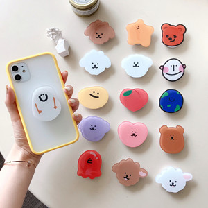 Cute Round Extend Phone Case Holder For iPhone 11 Pro 5s se 2020 6 7 8 Plus X Xr Xs Max Universal Finger Ring Stand Bracket