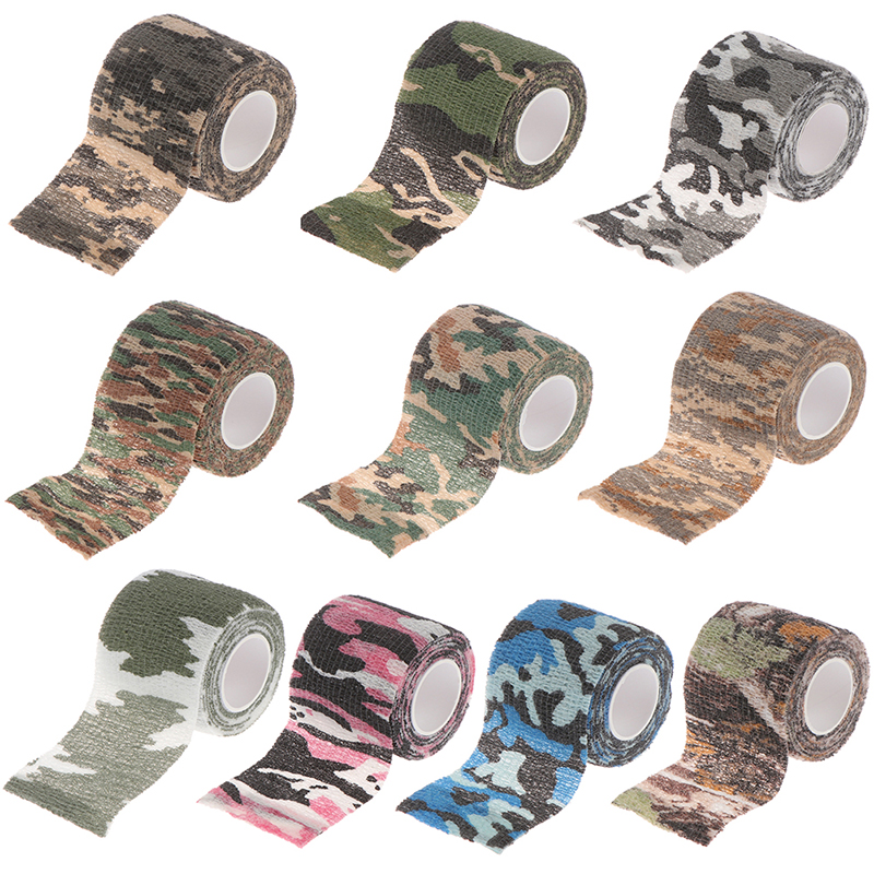 Camouflage Camo Elastoplast Adhesive Bandage Wrap Stretch Self Adherent Tape For Wrist Ankle Slices Sports Safety 5CMx4.5M