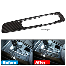 Wooeight 1Pc Carbon Fiber Central Control Mode Button Frame Fit For BMW X6 2015-2018 X5 2014-2016 2017 2018 Car Accessories
