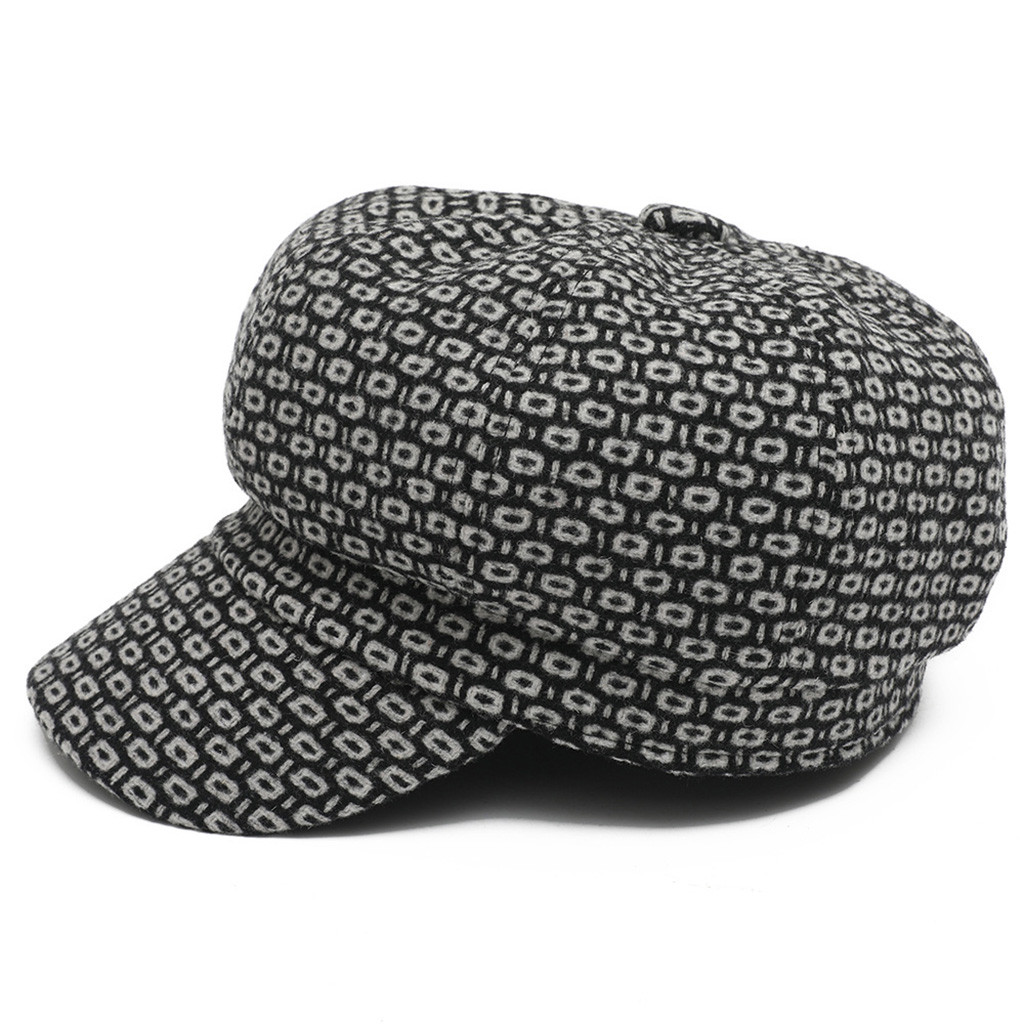 SAGACE Warm Caps Europe And America Wild Models Octagonal Cap Fashion Hat Autumn  Top Female Travel  Featured Solid Color