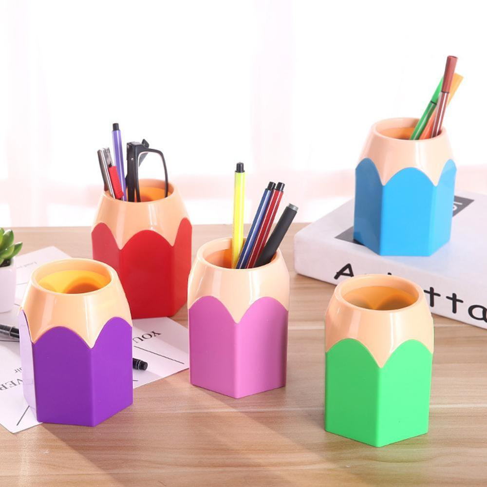 2020 NEW Arrival Creative Pen Vase Pencil Pot Makeup Brush Holder Stationery Desk Tidy Container Office Supplies