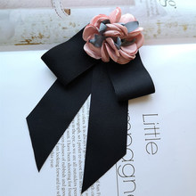 Korean style Women Bowtie flower Brooch Butterfly Women's Bow Tie Hotel Bank staff business Neck tie fashion Shirt Accessories(China)