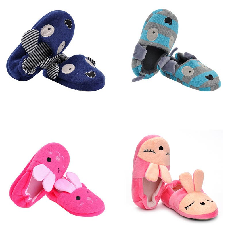 Children's Slippers All-Inclusive Cotton Cartoon Soft Home Indoor Baby Cotton Slippers Baby Boys Girls Shoes Warm Home Slippers