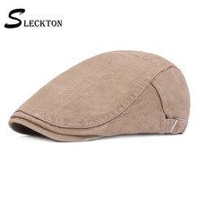 Beret-Cap Women Flat Cap Casual Summer Mens Cotton SLECKTON Unisex for Fashion French-Casquette-Hats