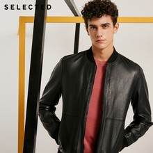 SELECTED New Men's Cool Sheepskin Genuine Leather Coats Baseball Jacket Casual Clothes Jacket S | 418410505(China)