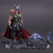 27cm Marvel Movie Avengers Thor Play Arts Kai Action Figures Thor Super Hero collection Model figures toy Doll for gifts saintgi iron man avengers generation action figures hot toys super hero collection model toy gift pa change play arts marvel