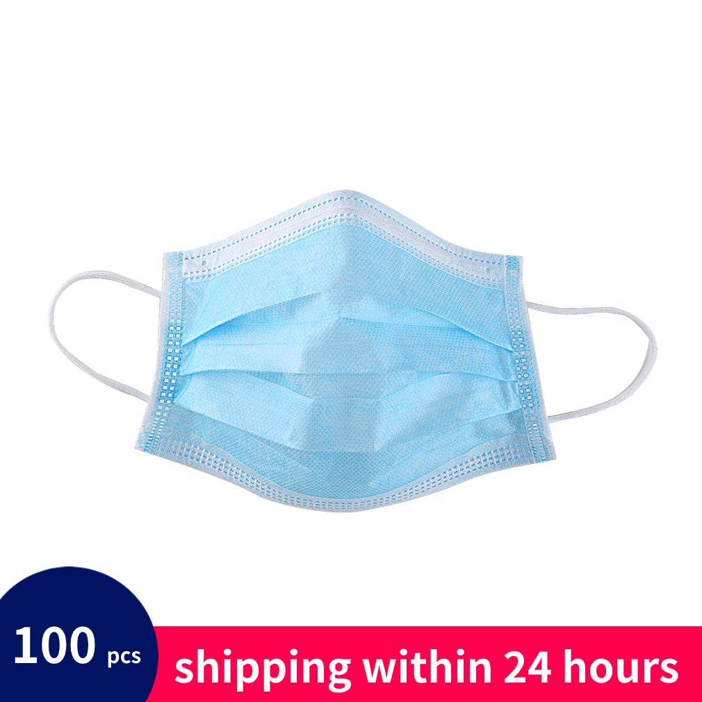 100 Pcs Dustproof Facial Protective Cover Masks Anti-Dust Disposable Salon Earloop Face Mouth Masks