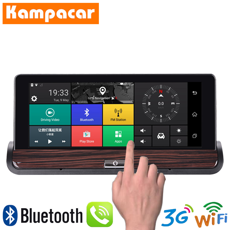 Kampacar Android Smart Mirror GPS Coche 3G Wifi Video Recorder With Navigator 7 Inch Europa Car GPS Navigation Tourist For Cars