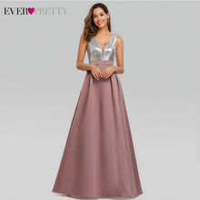 New Prom Dresses Long 2020 Ever Pretty V Neck Sequined A Line Vestido Formatura Women Sexy Backless Sleeveless Formal Party Gown