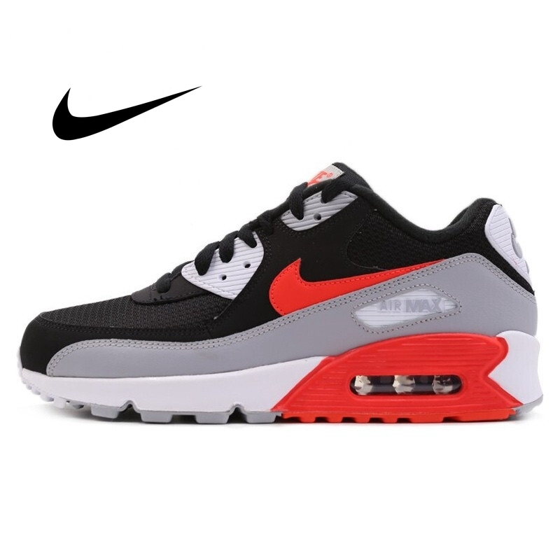 NIKE AIR MAX 90 ESSENTIAL Men's Running Shoes Lightweight Cozy Classic Outdoor Sneakers Shock Absorption Non slip AJ1285 101