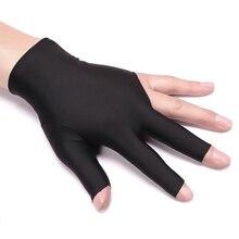 Снукер модные Универсальные 1 шт. левая рука крутые полезные бильярдные перчатки для бильярда спандекс случайный три пальца перчатки