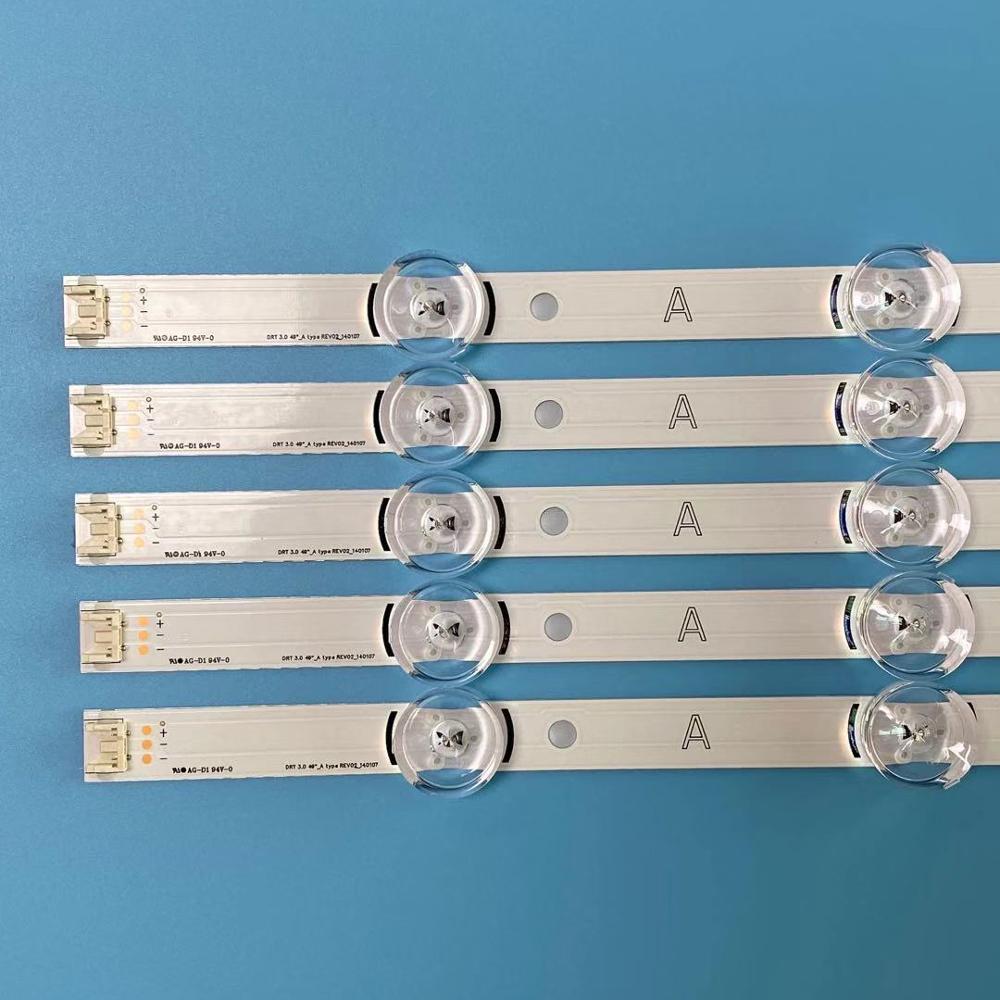 Image 2 - 10PCS/set 1025mm 9 LEDs New LED Strip 49LB5500 LC490DUE For LG  Innotek DRT 3.0 49 A B 6916L 1944A 6916L 1945AIndustrial Computer