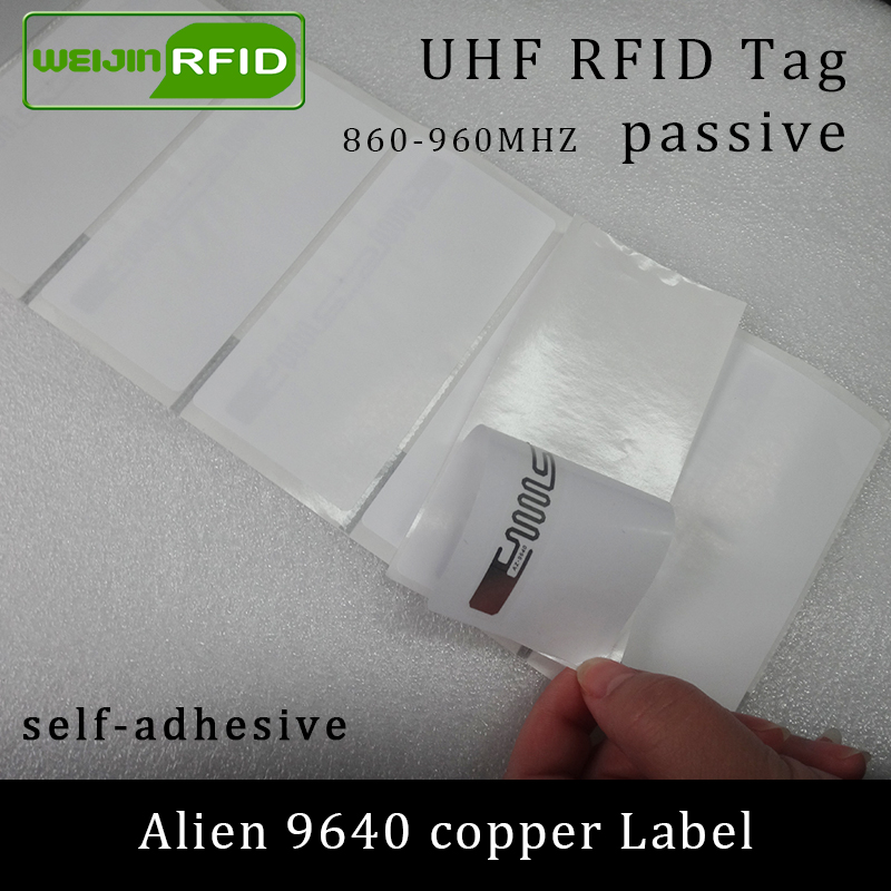 UHF RFID Tag Sticker Alien 9640 Printable Copper Label 915mhz 860-960MHZ Higgs3 EPCC1G2 6Csmart Adhesive Passive RFID Tags Label