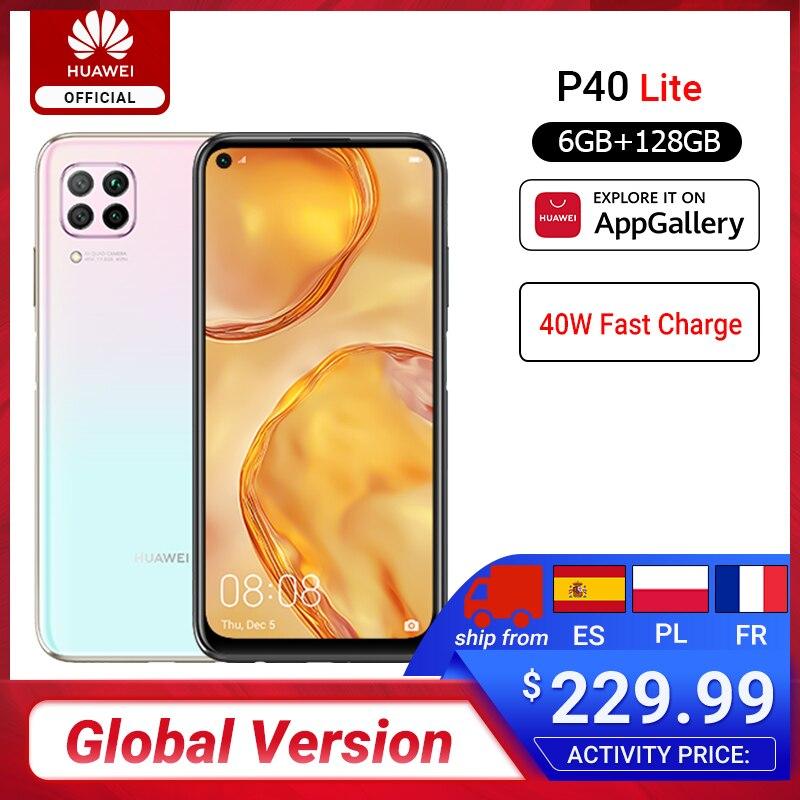 Global Version Huawei P40 Lite 6GB 128GB Smartphone 48MP AI Cameras 6.4'' FHD Screen Kirin 810 Octa Core 40W QC