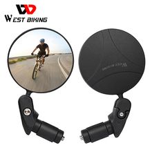WEST BIKING 360 Rotate Bicycle Rearview Mirror Safety Cycing Rear View Mirror Bike Accessories for MTB Bike Handlebar Mirrors