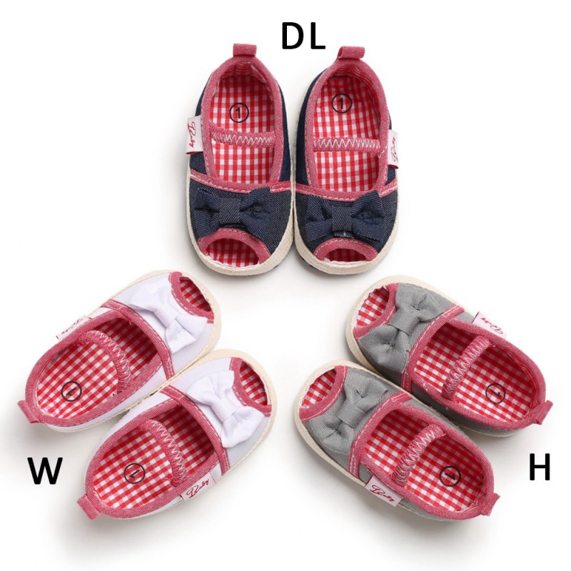 Soft Soled Baby Shoes Bowknot Design Anti-Slip Shoes Casual Sneakers With Bowknot Toddler Soft Soled Shoes