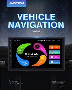 "Image 2 - 9 ""dokunmatik Mirrorlink Oto ses Çalar Bluetooth USB DVR Arka Görüş Kamerası 2din araç radyo MP5 Player Tek Din autoradio Hiçbir Android"