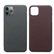 Carbon Fiber Fall für iPhone 11 Pro Max Fall Matte Aramid Faser Ultra Dünne Telefon Abdeckung für iPhone XS XS max SE2 9 XR Fall Coque